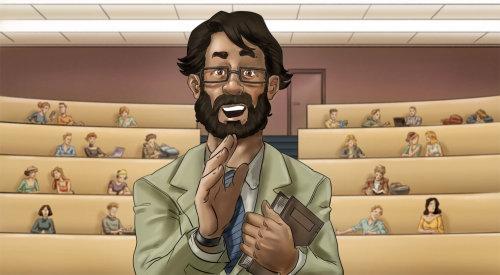 Ilustração do storyboard de um homem