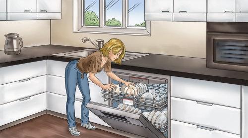 Ilustração gráfica da cozinha