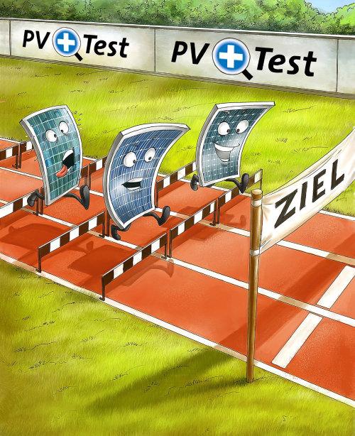 ilustração dos desenhos animados do teste positivo