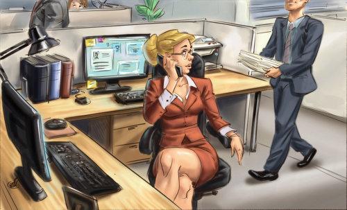 Storyboard de pessoas trabalhando no escritório