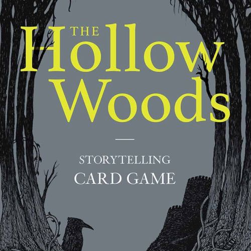 Fantasy book cover design of the hollow woods