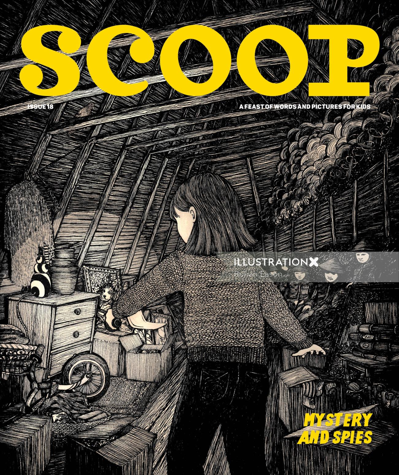 Soldier illustration for Scoop Magazine
