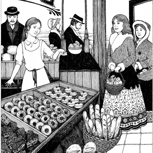 The little princess black and white illustration