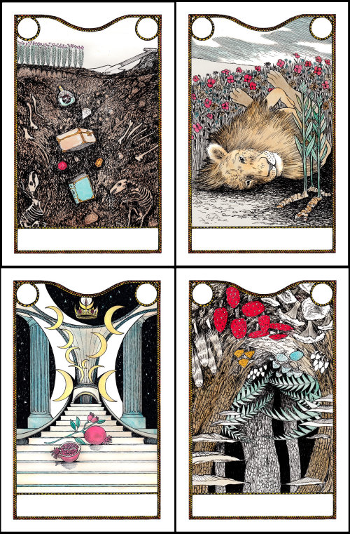 Line nature cards