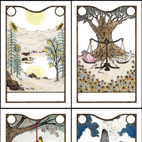 Contemporary tarot cards
