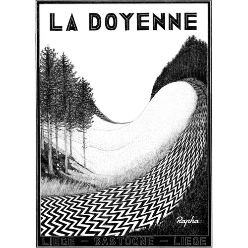 La Doyene poster for Rapha Cycling