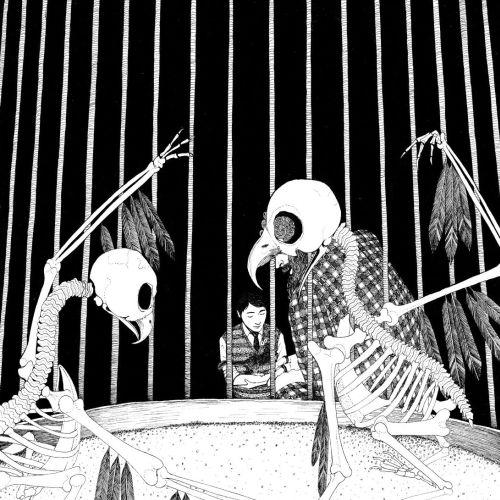 Parrots skeleton drawing