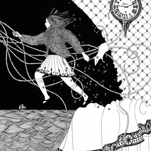 Black and white children's book Anna and the Witch's Bottle