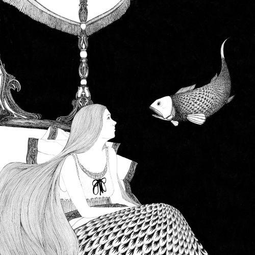 A Fish tale ink drawn art