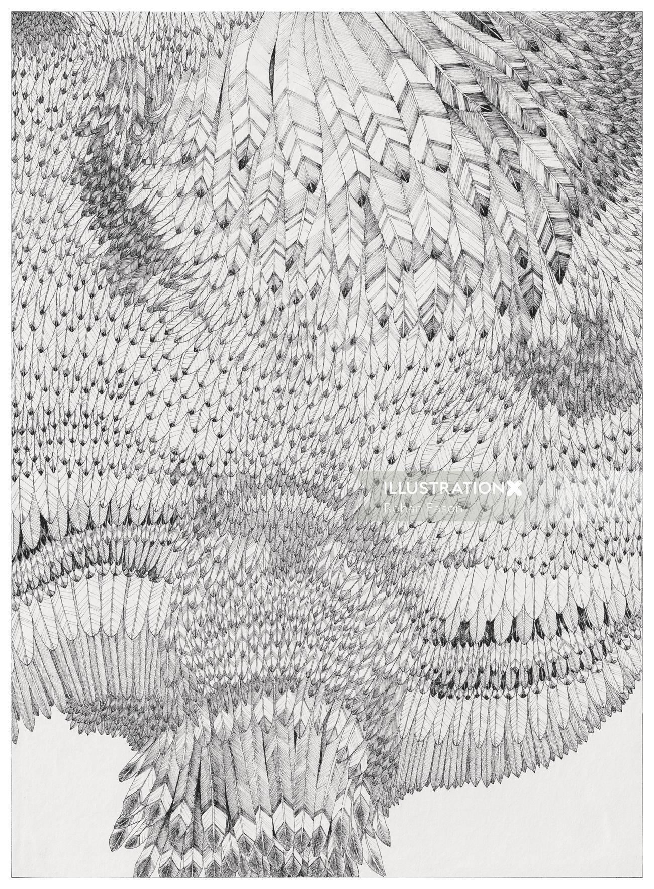 Print Feather pattern illustration