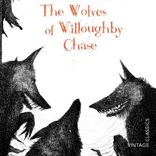 line art of The Wolves of Willoughby Chase