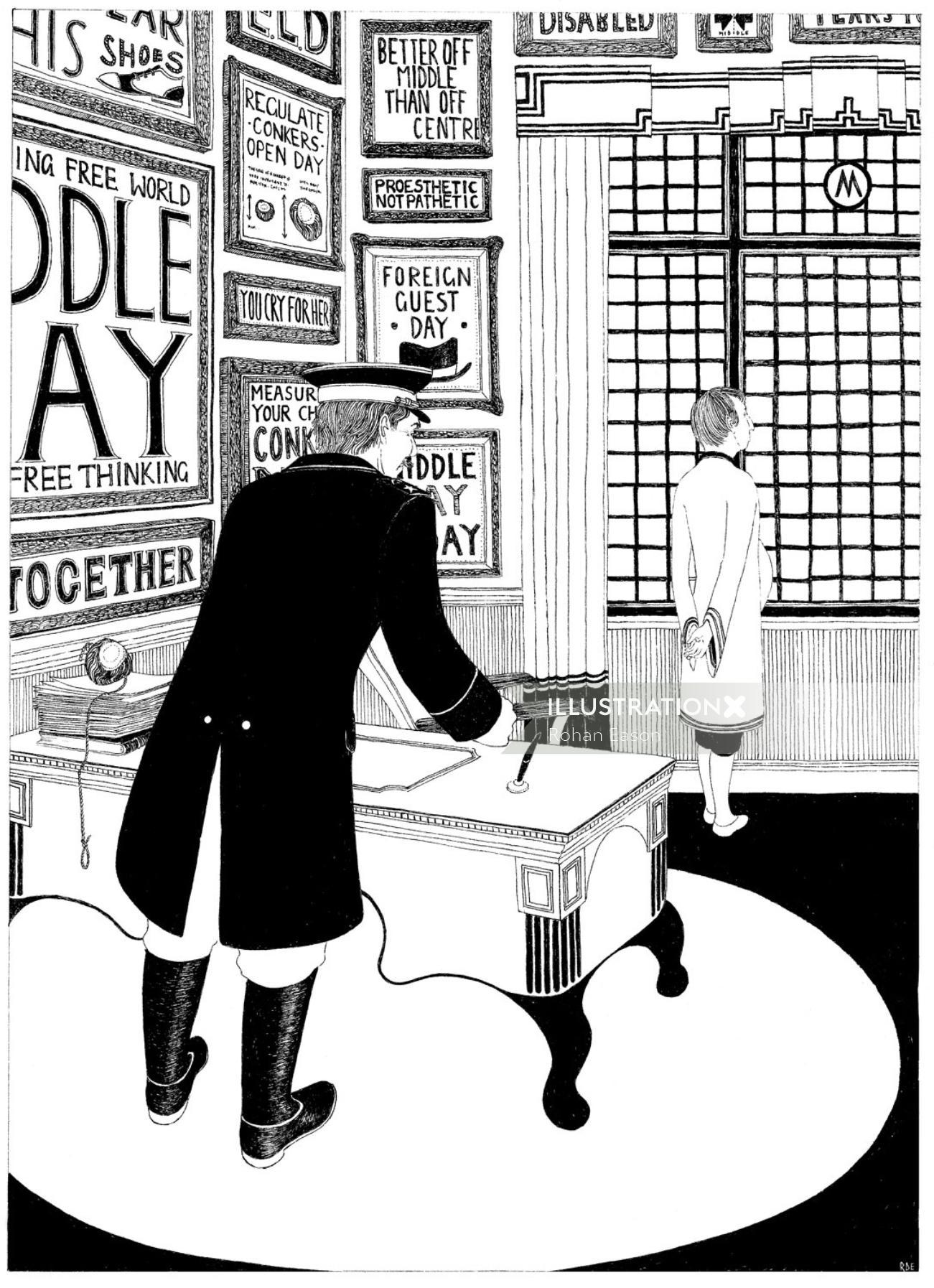Tancredi Fictional Black and white book