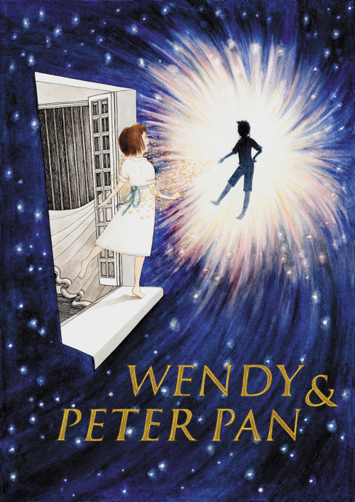 Wendy and Peter pan childrens book cover