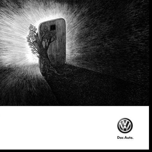 Volkswagen advertisement campaign graphic