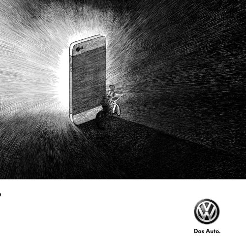 Rohan Eason illustrated Volkswagon Ad campaign
