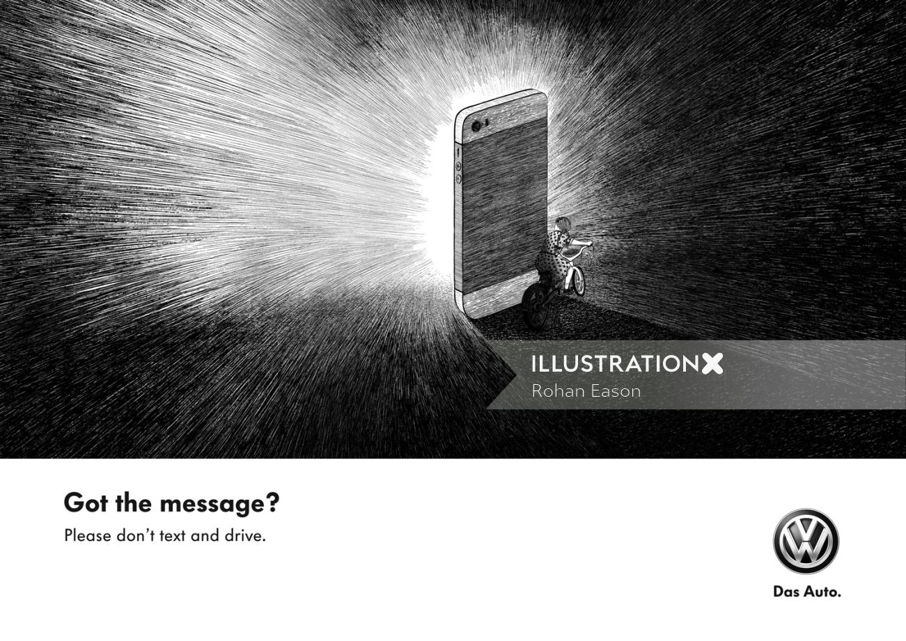 Rohan Eason illustrated Volkswagon Ad campaign