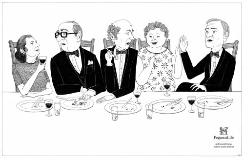 People Having Dinner Party Illustration
