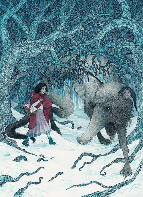 Red Riding Hood Fantasy Illustration