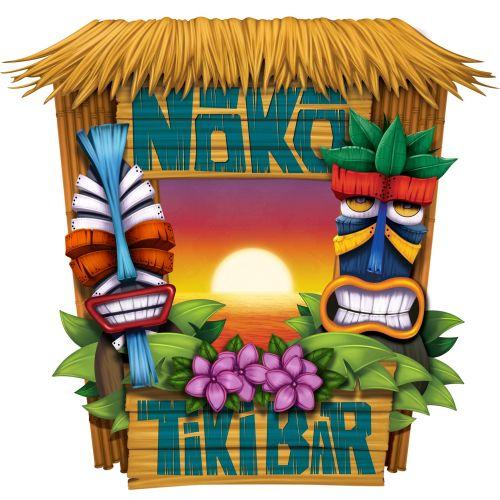 Noka Tiki Bar digital illustration