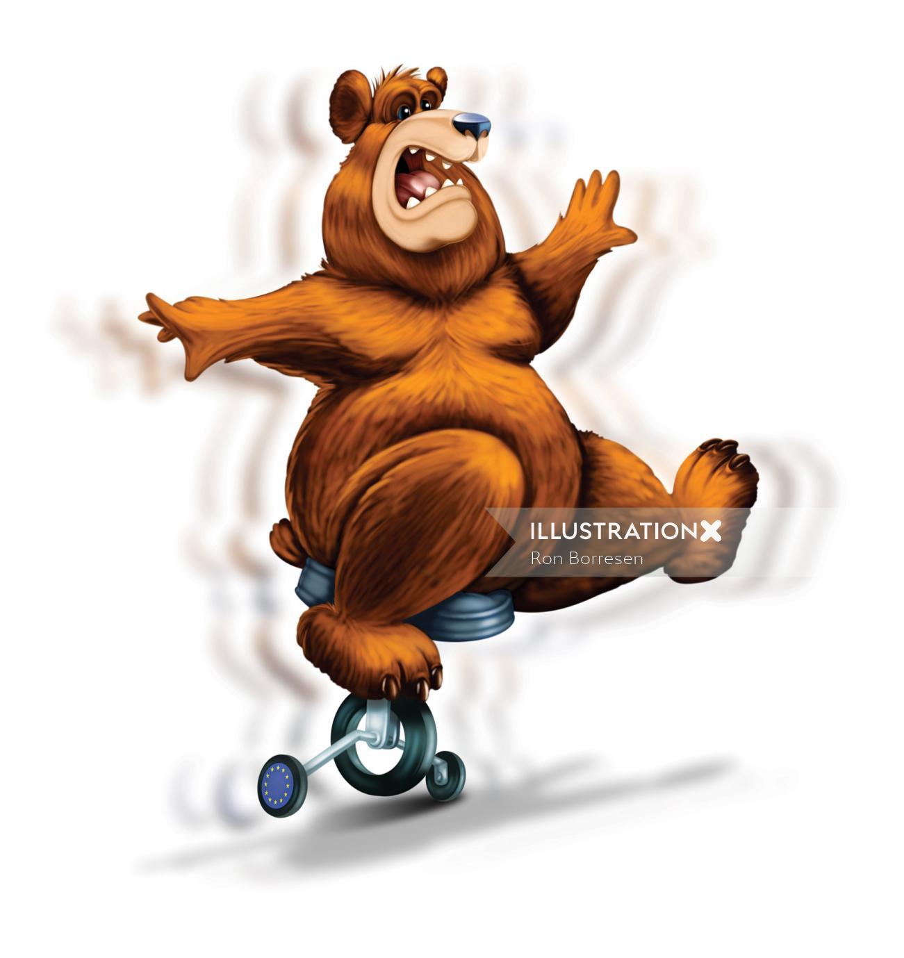 Bear animal in circus