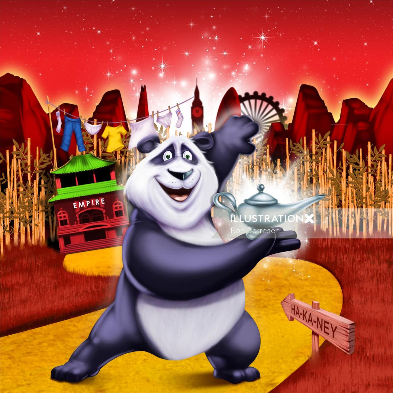 Animals character design of panda