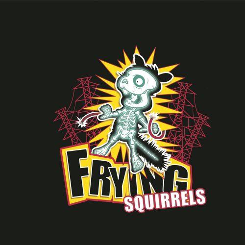 Frying squirrels illustration