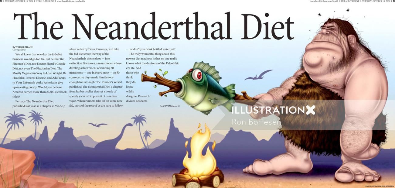 Children's Book The neanderthal diet