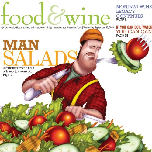 Food & diet man salads poster