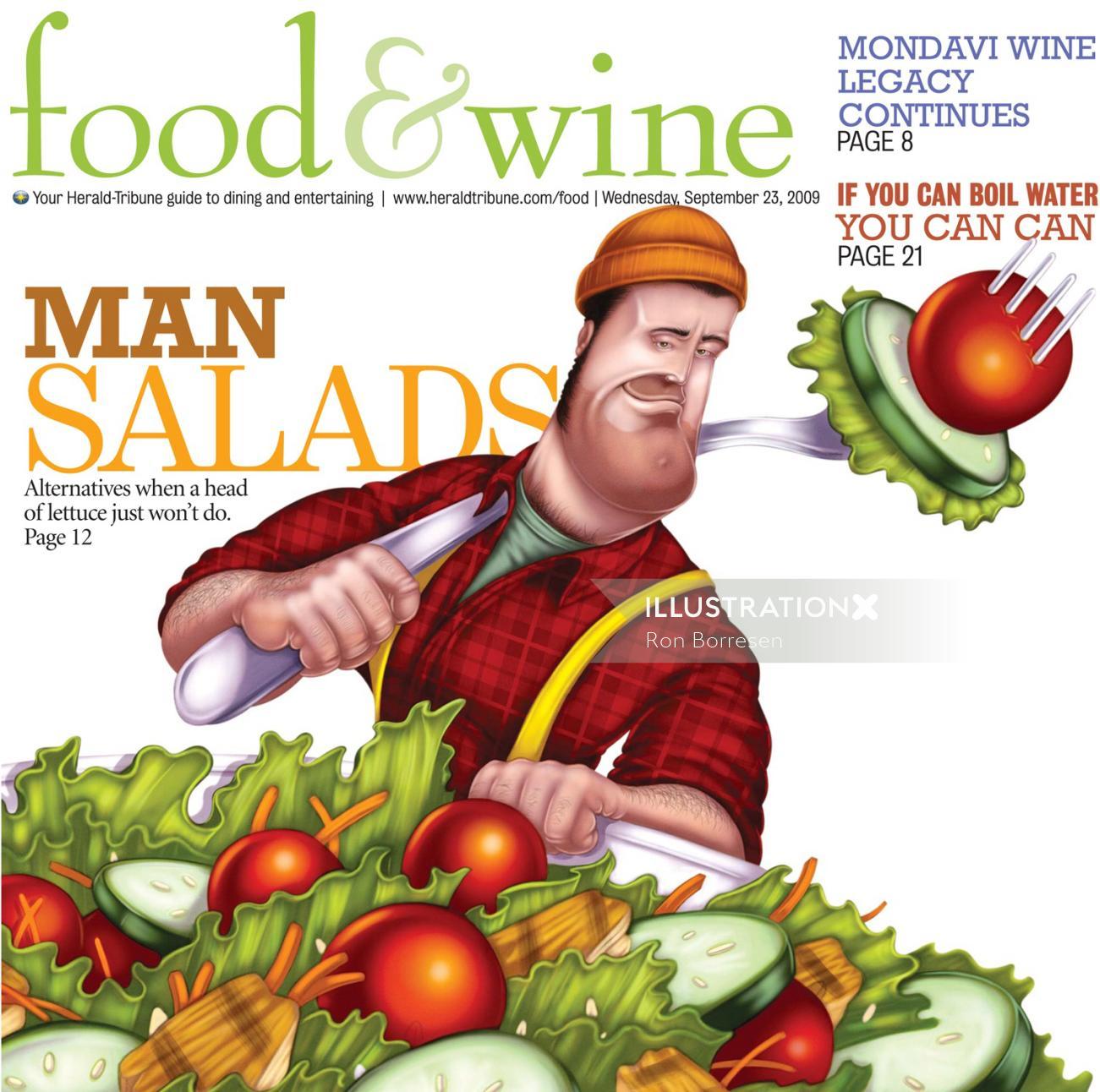 Food & diet man salads poster