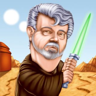 painting of force still with George Lucas