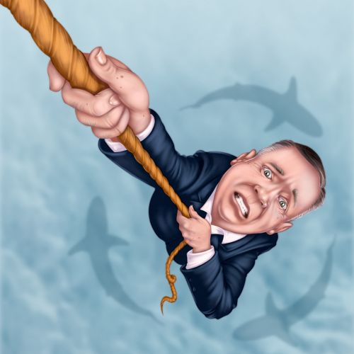 A man holding rope showing boomers in crisis