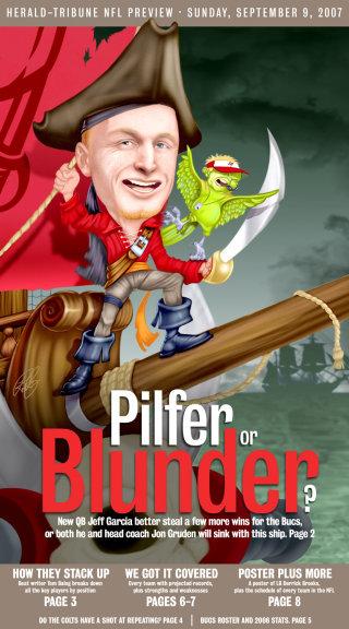 illustration of pilfer or blunder