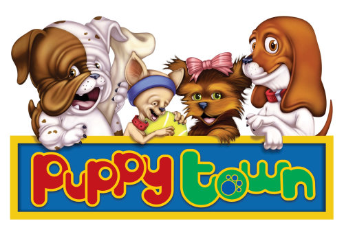 Animals Graphic Poster Puppy Town Logo
