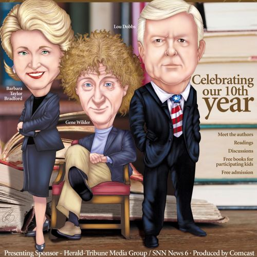 editorial of Barbara Bradford, Gene Wilder, and Lou Dobbs