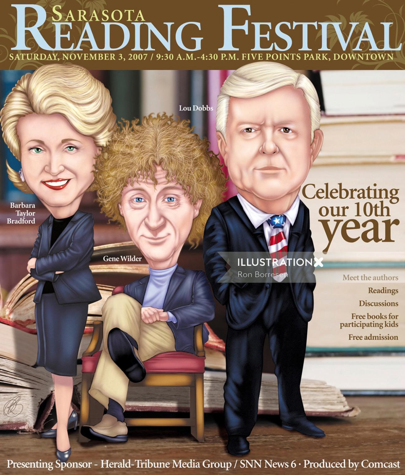 editorial of Barbara Bradford, Gene Wilder, and Lou Dobbs