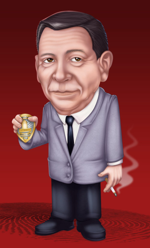 portrait illustration of Joe Friday