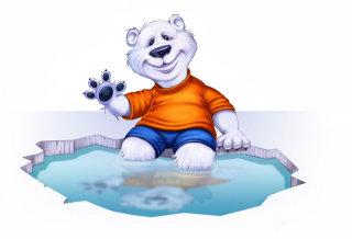 Cartoon teddy bear illustration by Ron Borresen