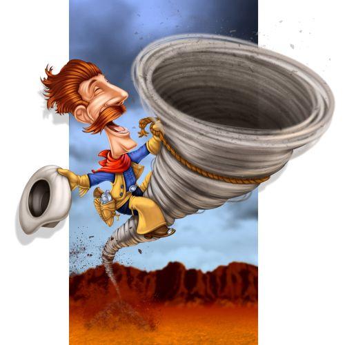 cartoon book pecos bill illustration