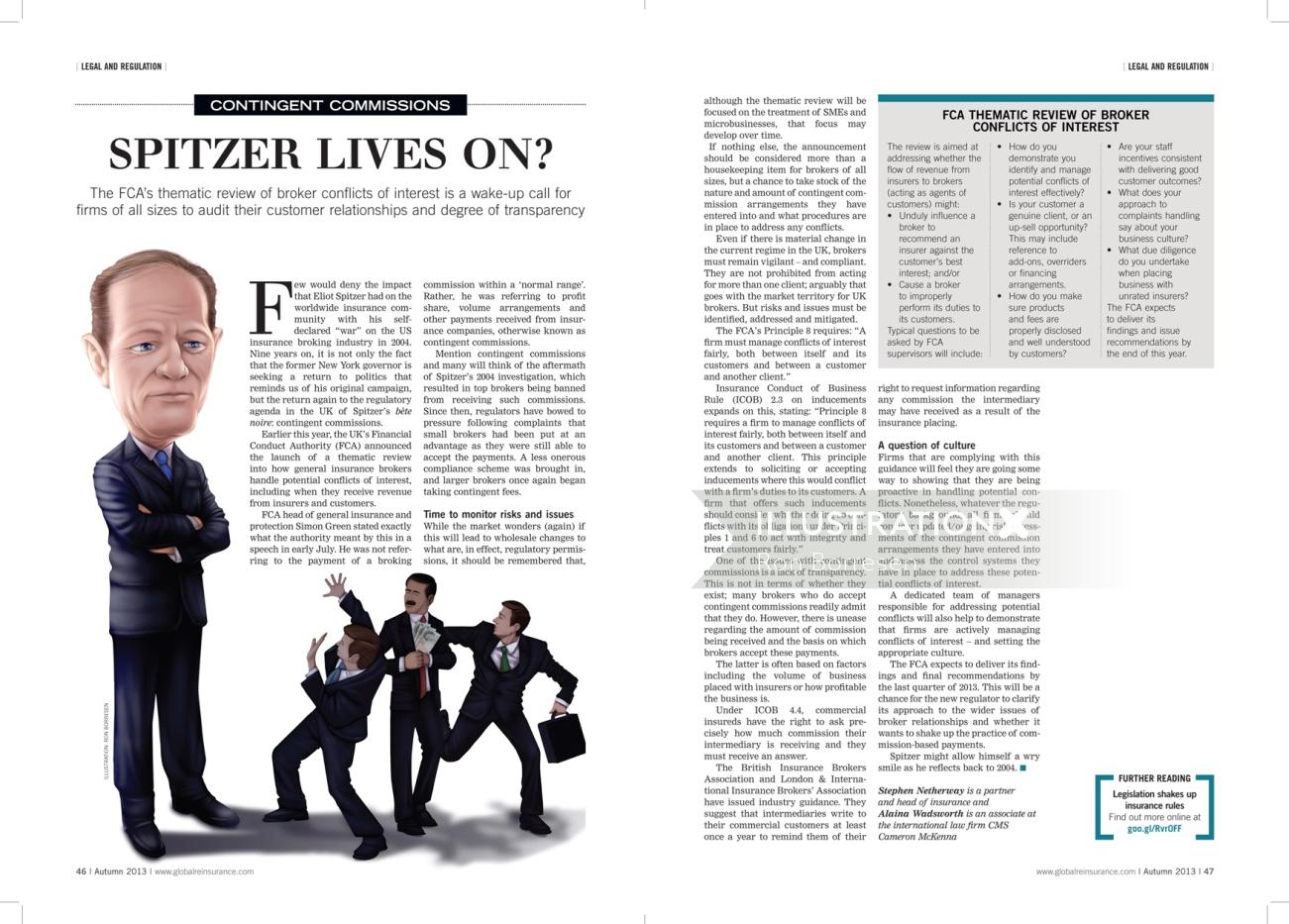 Editorial illustration spitzer lives on