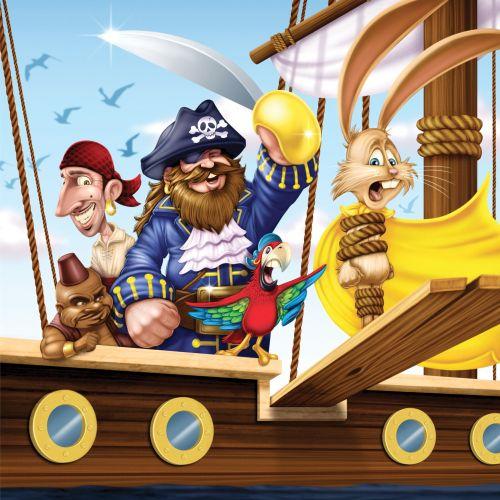 children digital illustration of pirates