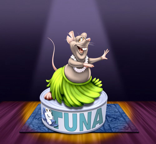 Computer generated Tuna mouse