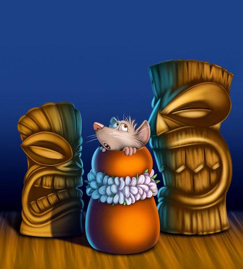 Digital illustration of Idols and Mice