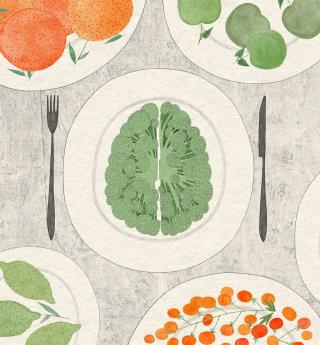 Food and Mental Health editorial illustration