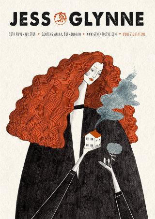 Illustration of a Jess Glynne