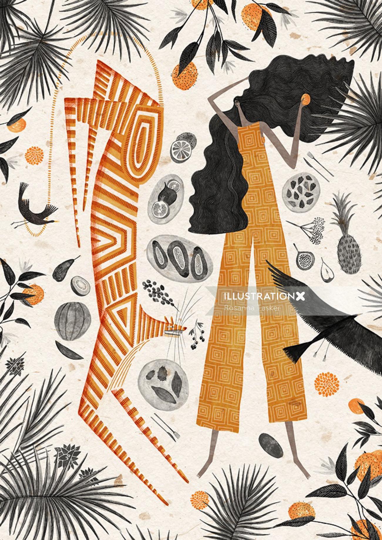 Illustration for Folklore Exhibition