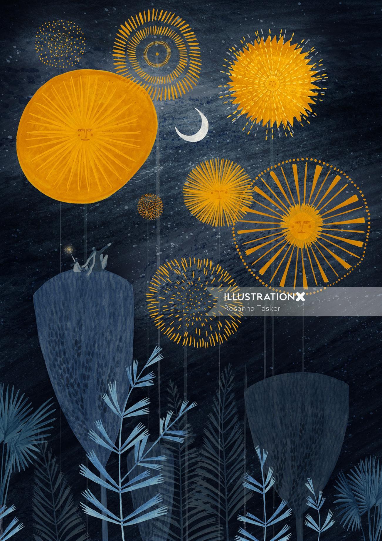 fireworks, firework, bonfire, bonfire night, night time, magic, stars, planets