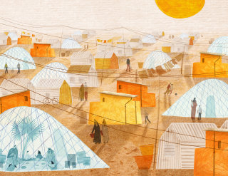 Book illustration for 'Stories Of Heat From Our Warming World'