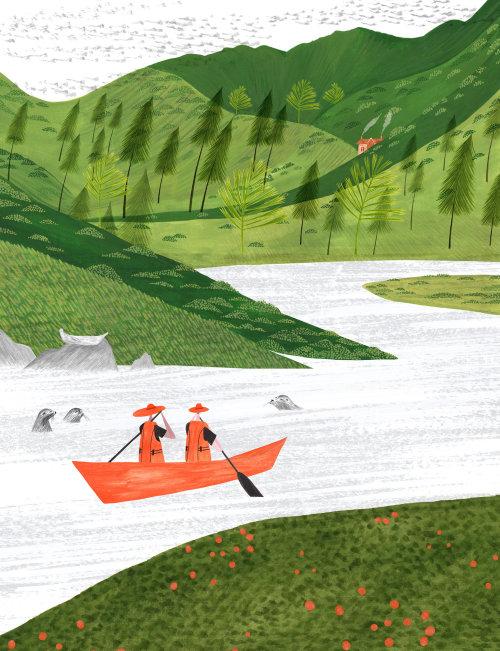 editorial, magazine, canoe, kayaking, adventure, scotland, island, boat, seals