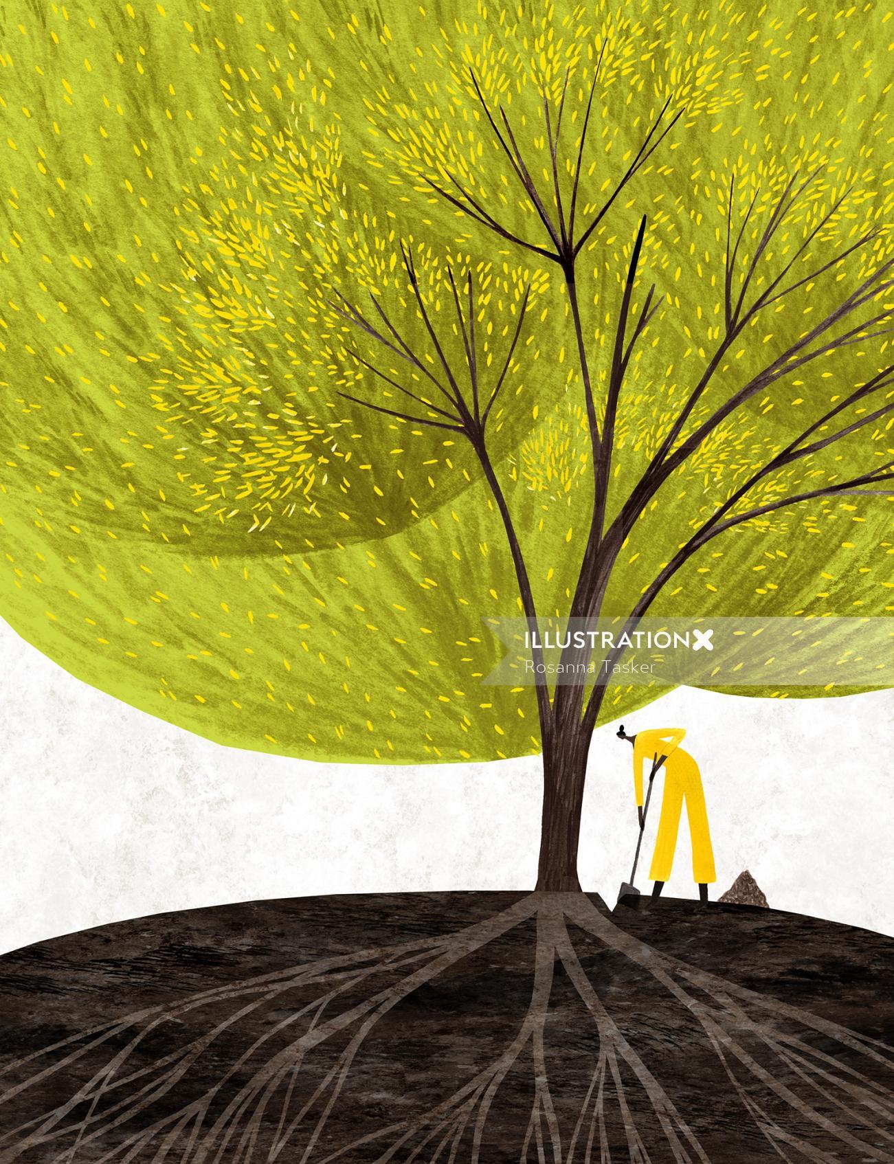 tree, dig, editorial, magazine