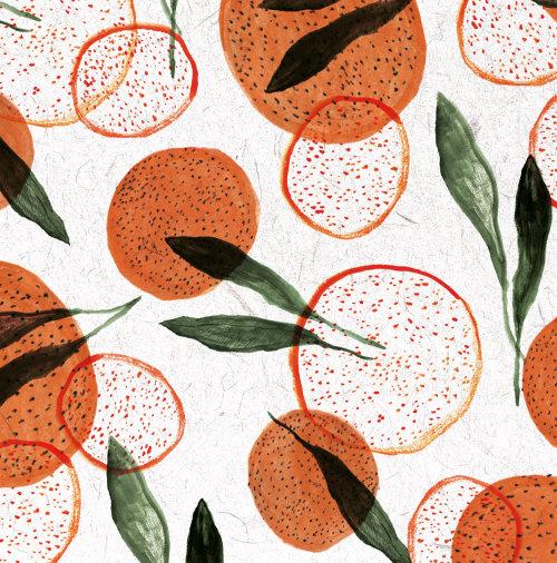 Orangs fruit painting
